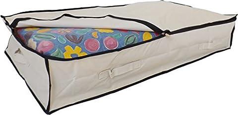 Stupidly Useful Sac de rangement solide Polyester 600D avec 4poignées renforcées–pour vêtements, couettes, parure de lit et couverture, beige, Large 85 Litres