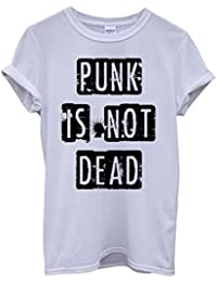 Punk is Not Dead Fun Music Cool Funny Hipster Swag White Blanc Femme Homme Men Women Unisex Top T-Shirt
