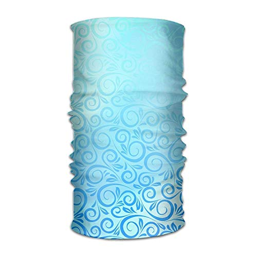 Uosliks Texture Tracery Light Blue Headwear Bandanas Seamless Men Women Headwear 12-in-1 Stretchable Magic Scarf ()
