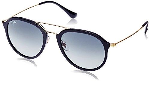 RAYBAN Unisex Sonnenbrille RB4253, (Gestell: schwarz,Gläser: grau verlauf 601/71), Small (Herstellergröße: 50)