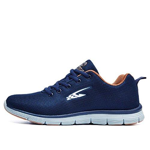 Hommes Léger Mode Chaussures De Sport Confortable En Plein Air Chaussures De Course Baskets Respirant Ballerines Antidérapantes Euro Taille 39-44 Bleu