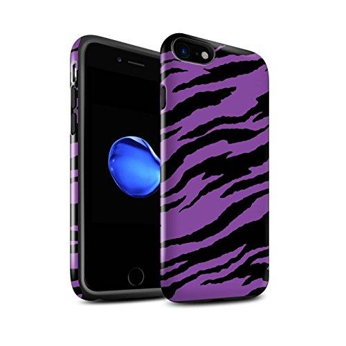 STUFF4 Glanz Harten Stoßfest Hülle / Case für Apple iPhone 6 / Ombre Herz/Liebe Muster / Lila Mode Kollektion Tiger Druck/Träne