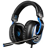 HUKZ Stereo-Gaming-Headset,SADES R4 Gaming Headset 3,5-mm-Over-Ear-Kopfhörer-Mikrofon für/PC / PS4 / Xbox eins (Schwarz)