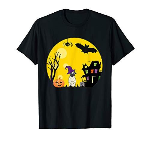 Mops Shirt Kostüm - Mops Hund Halloween Kostüm gruselig Vollmond