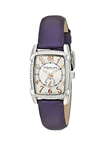 Stuhrling Original Carnegie Rose Women's Quartz Watch with Silver Dial Analogue Display and Purple Leather Strap 163A.121Q2