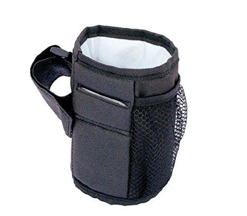 Yosoo nuovo passeggino Cup porta bottiglia d' acqua regolabile sedia a rotelle per bicicletta bottiglia porta nero