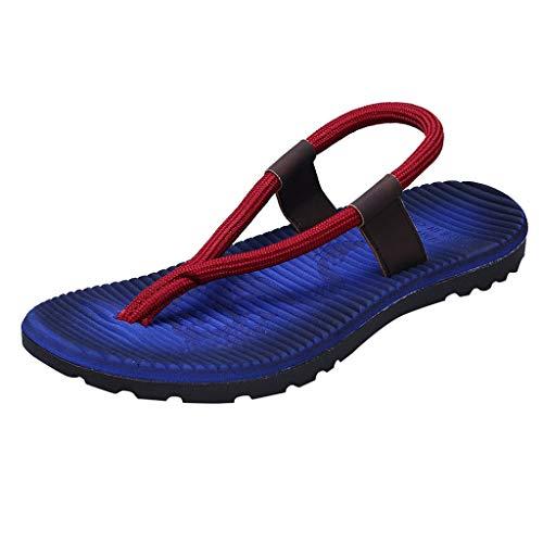Herren Sandalen,SANFASHION Mode Flache Flip Flops Hausschuhe Strand Schuhe Outdoor Bequemer Roman Pantoletten