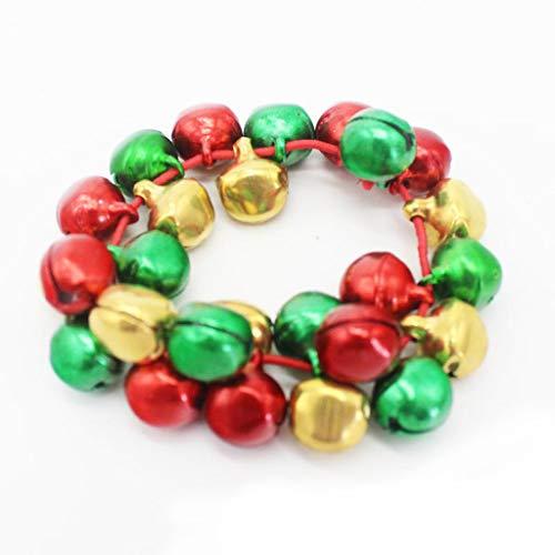 (Xuniu Bunte Jingle Bells Dance Stretch Armbänder Kinder Schmuck für Weihnachtsfeier)