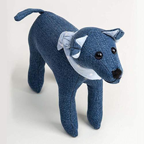 Canterbury Bears ltd 127 Dougie Dog, Vaquero Azul
