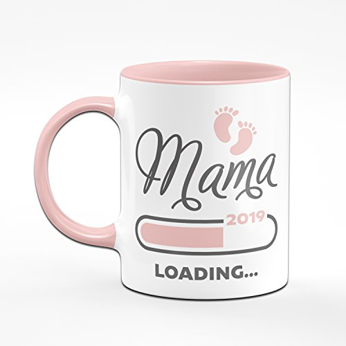 Tasse Mama loading 2019 rosa - für werdende Mütter - das perfekte Geschenk für Schwangere - Kaffeetasse - 2