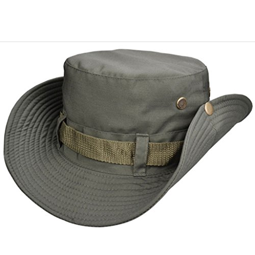 Beileer Stylish Sun Hat UV Protection Outdoor Bucket Hat for Outdoor Fishing Camping Cycling Hunting Golf Hiking (army green)