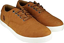 US Polo Association Mens Tan Boat Shoes - 11 UK/India (45 EU)