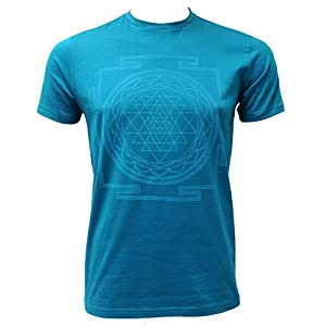 Yogistar Yoga-t-Shirt sri Yantra – Men – Petrol
