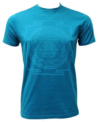 Yogistar Yoga-t-Shirt sri Yantra – Men – Petrol