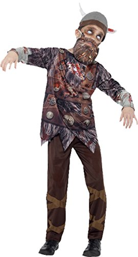 Kostüm Deluxe Viking - Kinder Fancy Kleid Halloween Party Jungen Horror Deluxe Zombie Viking Kostüm, Braun