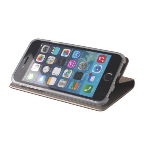 """BOOK CASE SMART MAGNET Für Apple iPhone 7 4,7"""" Apple iPhone 7 / Apple iPhone 8 4,7"""" Cover Handy Tasche Flipcase Etui Buchform Kunststoff TPU Halterung für Kreditkarten (dunkel blau / navy blue) gold"""