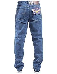 Blue Circle- Pantalon de travail en jean- Noir- Homme- UK Tailles