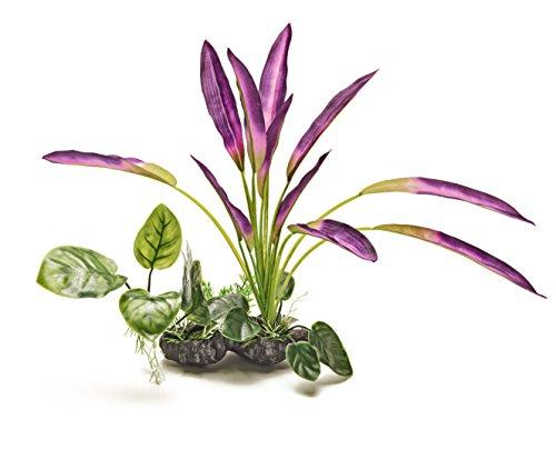 Pistachio Pet Schöne Realistische Aquarium Pflanze mit Sockel 30,5cm/30cm hoch. New für - Aquarium Realistische Pflanzen