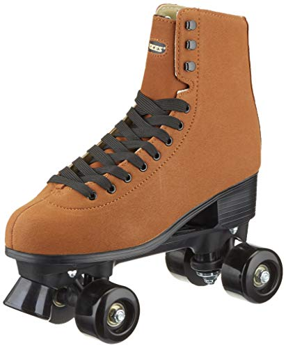 Pattini da donna Roces, RC1 CLASSICROLLER 1, marrone (pelle scamosciata), 41 EU (7 UK)