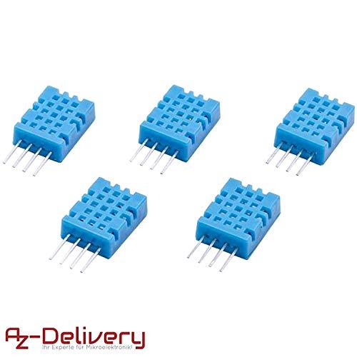 AZDelivery ⭐⭐⭐⭐⭐ 5 x DHT11 Temperatursensor und Luftfeuchtigkeitssensor für Arduino -