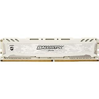 Ballistix Sport LT BLS8G4D240FSC 8 GB Speicher (DDR4, 2400 MT/s, PC4-19200, DRx8, DIMM, 288-Pin) weiß