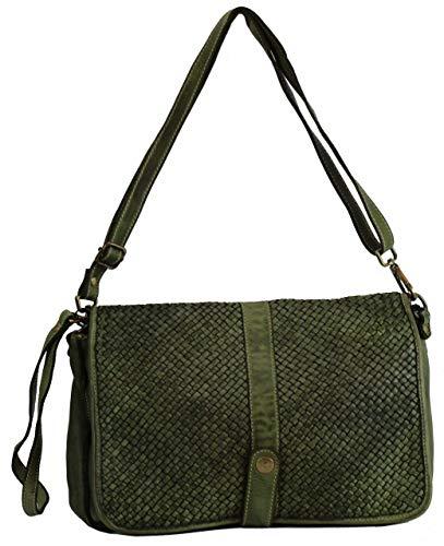 BZNA Bag Lola Verde Grün Italy Designer Clutch Umhängetasche Damen Handtasche Schultertasche Tasche Leder Shopper Neu