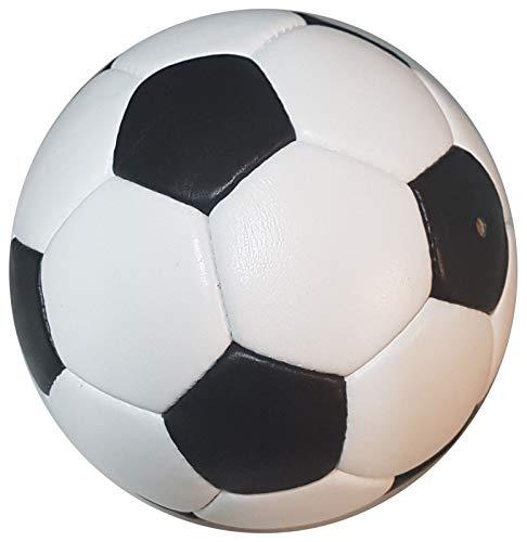 SCHERENKAUF Original Fussball Retro Gr. 5 mit handgenähtem Echtleder (Lederfußball)