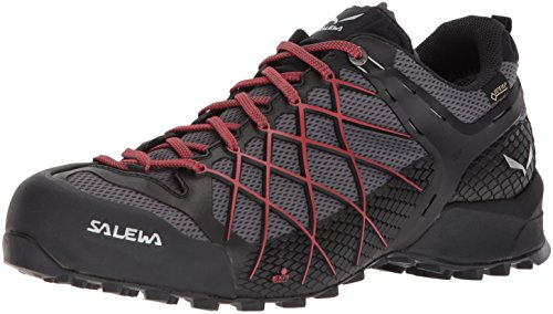 SALEWA Herren MS Wildfire Gtx Wanderschuhe, Mehrfarbig (Black Out/Bergot), 42.5 EU