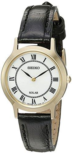 Seiko De Las Mujeres De Las Señoras vestido de cuarzo reloj de vestido de acero inoxidable (modelo: sup304)