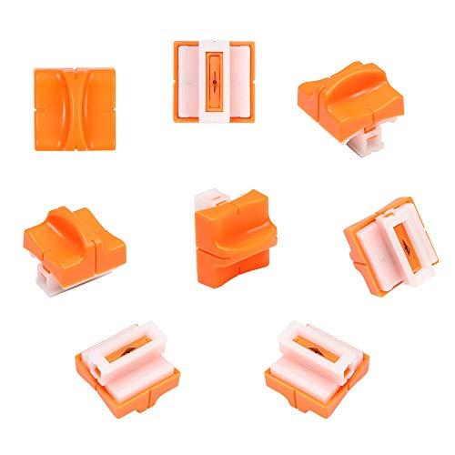 flintronic 8 Stück Papierschneider Ersatzklingen mit Sicherheitssicherung Design für A4 Papierschneider, Orange