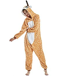 UMIPUBO Pijamas Unisexo Adulto Cosplay Traje Disfraz Adulto Animal Pyjamas Ropa de Dormir Halloween y Navidad