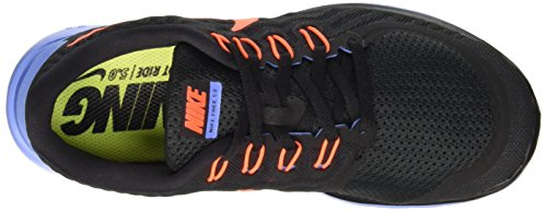 Nike Wmns Free 5.0, Chaussures de Sport Femme Black/Hyper Orange-Chalk Blue