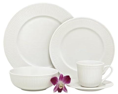 Melange New Italian Villa Premium Porcelain 20-Piece Place Setting,