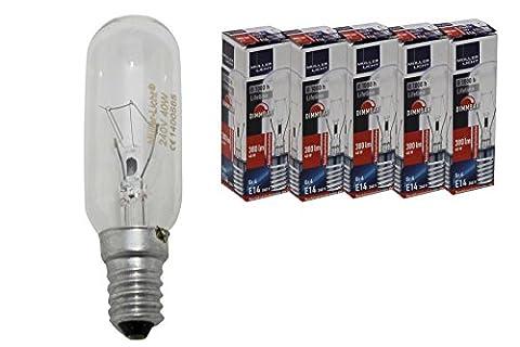 Müller Licht Lot de 5ampoules de rechange pour lampe de hotte aspirante 40W E14clair