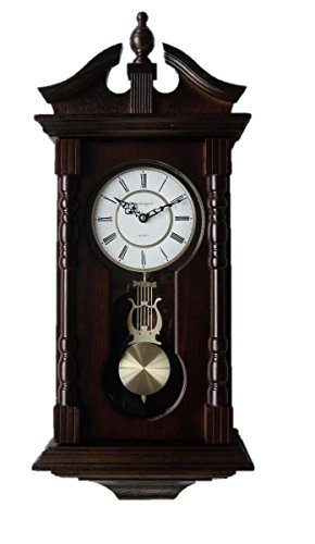 vmarketingsite, orologi da parete, orologio da parete a pendolo con melodia Orologio a pendolo tradizionale in legno. Ottima idea regalo per una nuova casa o per un compleanno. L'orologio vmarketingsite suona la melodia di Westmister ogni ora.