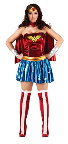 Imagen de rubbies  disfraz de superhéroe para mujer, tamaño único alternativa
