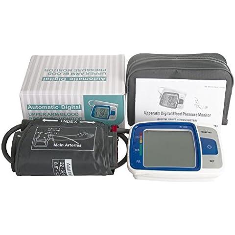 Prima Automatic superior del brazo monitor de presión arterial Por HealthyWealthy-Monitor Digital pb para la presión arterial alta que sea aprobado por la FDA ajustable Manguito esfigmomanómetro, portátil y fácil de Operación y 60 Memoria de