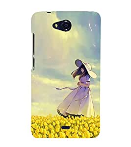 Fiobs Designer Back Case Cover for Micromax Canvas Play Q355 (Girl Dance Naach Gana Pose Mudra)