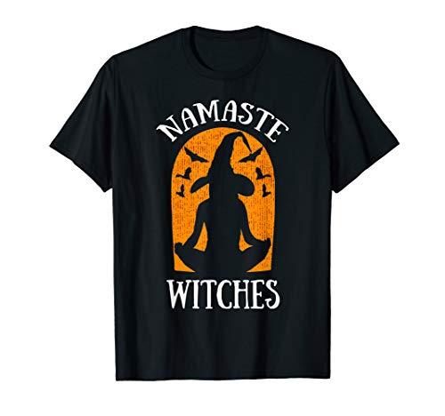 Mutter Hexe Tochter Kostüm Und - Halloween Namaste Witches Hexe Yoga Fledermaus Geschenk  T-Shirt