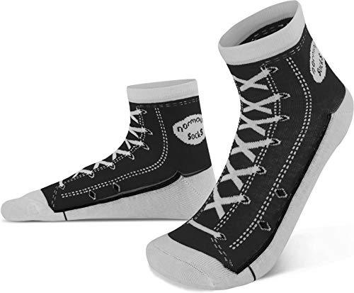 normani 4 Paar Socken im Schuh-Design mit vielen originalgetreuen Details Farbe Schwarz Größe 43/46