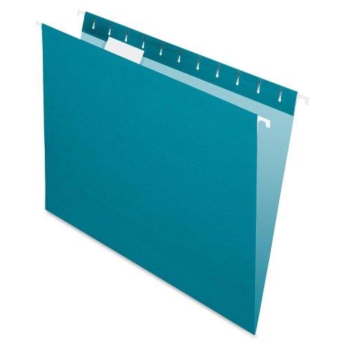 Pendaflex Essentials Farbe zum Aufhängen Ordner–Brief–8.50quot; Breite x 11quot; Länge Blatt Größe–1/5Tab Cut–Blaugrün–25/box