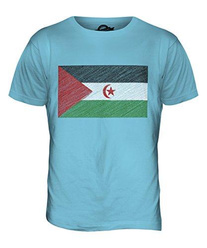 CandyMix Westsahara Kritzelte Flagge Herren T Shirt Himmelblau