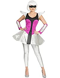 Space Girl Silver Kostüm für Damen - Astronautin Weltraumfahrerin Weltall Zukunft Alien Karneval Mottoparty