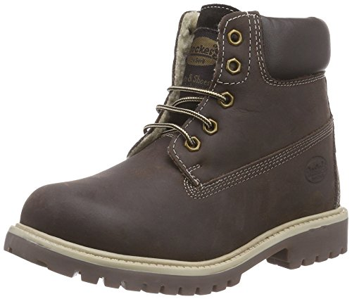 Dockers by Gerli 35FN701-400320, Unisex-Kinder Combat Boots, Braun (Cafe 320), 33 EU
