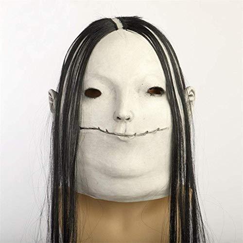 AGYE Halloween-Maske, Weibliche Geistermaske des Horrors, Erwachsene Parteidekorationsstützen Für - Weibliche Dead Clown Kostüm