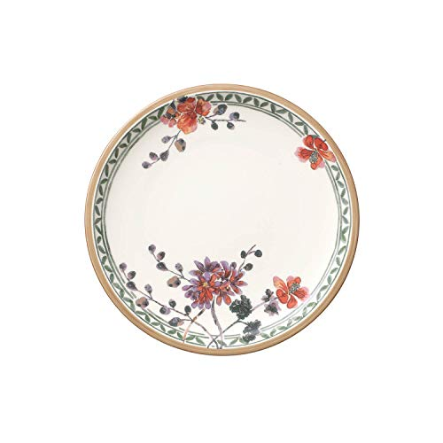 Villeroy & Boch Artesano Provençal Verdure Assiette petit-déjeuner, 22 cm, Porcelaine Premium, Blanc/Multicolore