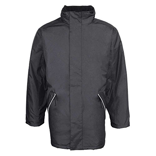 RTY Mens Workwear Professional Waterproof Windproof Jacket Coat Black, Navy Noir - Noir