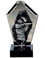 AS-P Edelstahlfigur - Schütze Pokal inkl. Ihrer Wunschgravur, Höhe: 24 cm