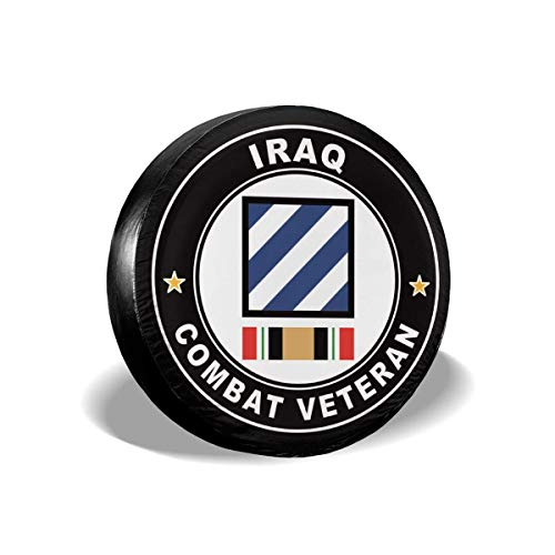 Bag hat 3Rd Division Operation Iraqi Freedom Combat Veteran Polyester Universal Spare Wheel Tire Cover Wheel Covers Jeep Trailer Rv SUV Truck Camper Travel Trailer Accessories 16 Inch -
