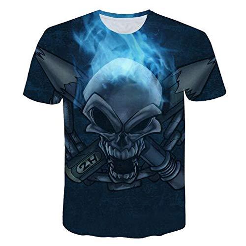 Sommert-shirtMännersommer-beiläufige Tarnungs-Druck-mit Kapuze ärmelloses T-Shirt Spitzenweste,3D-Druck seltsam schwarz 2XL (Cookie Cutter Cougar)